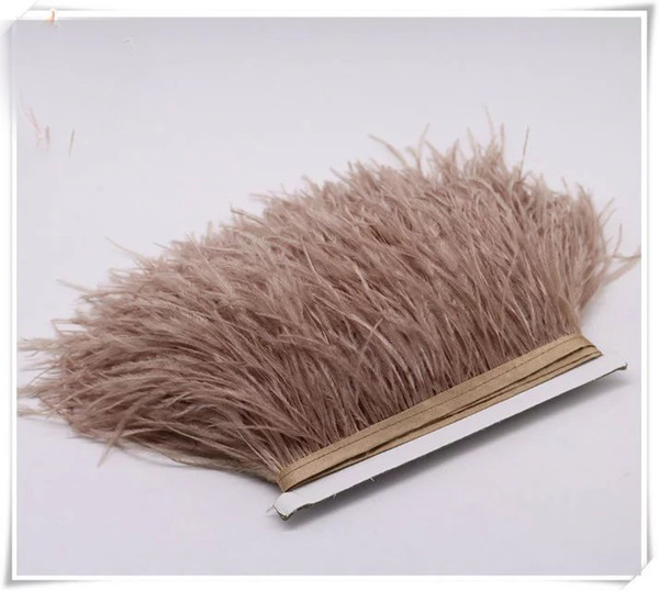 Wholesale 10yards/lot 5-6 inch in width ostrich feather trimming fringe for wedding dress sewing crafts skrit supply decor