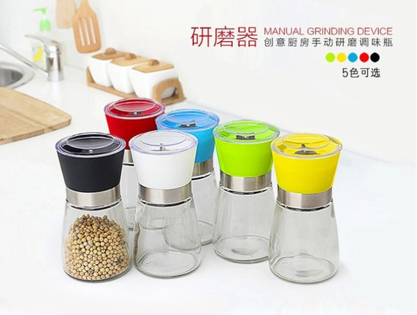Creative kitchen products,Manual pepper mill,Pepper mill,Seasoning bottle,Black pepper mill,80PCS/lot free shipping