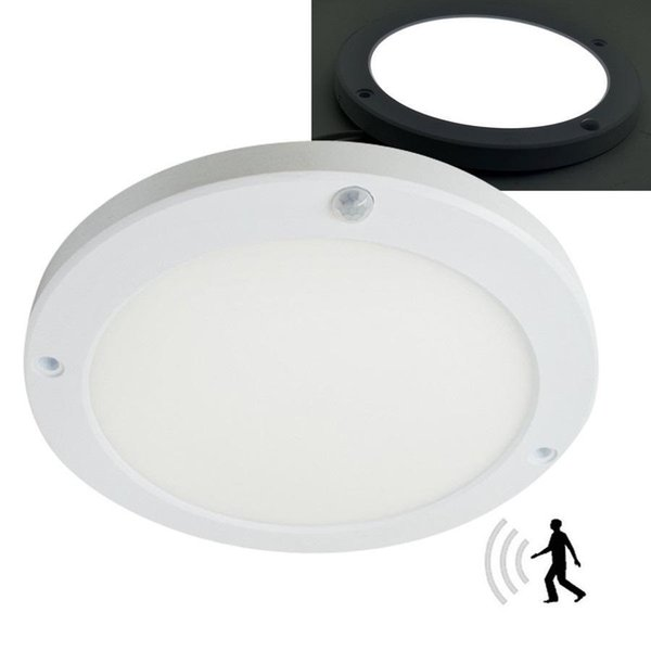18W PIR Led Sensor Downlight Super brillante panel de luz Detector infrarrojo Movimiento Interruptor Luz de montaje empotrada redonda