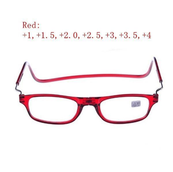 Gafas de lectura magnética con dioptrías + 1.0 / + 1.5 + 2.0 / + 2.5 + 3.0 / + 3.5 +4.0 Hombres Mujeres Gafas Personas de edad 3 colores