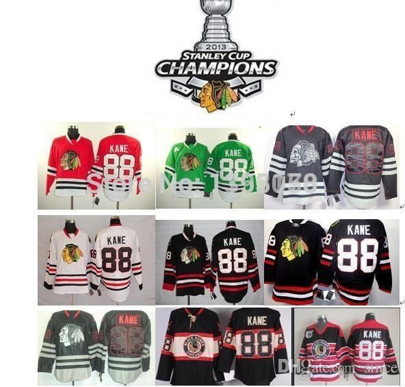 b95f167dca2 Cheap 2015 New Kane jerseys Chicago Blackhawks 88 Patrick Kane red white