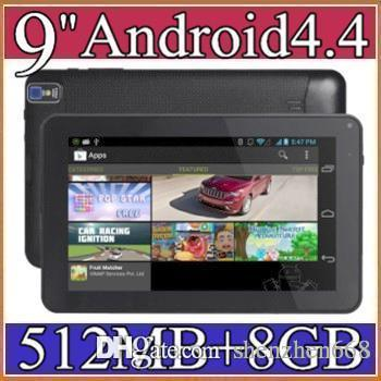 """DHL 9"""" 9 inch build in flashlight Google Android 4.4.2 Allwinner A33 Tablet PC bluetooth support Quad Core WiFi DUAL CAMERA B-9PB"""