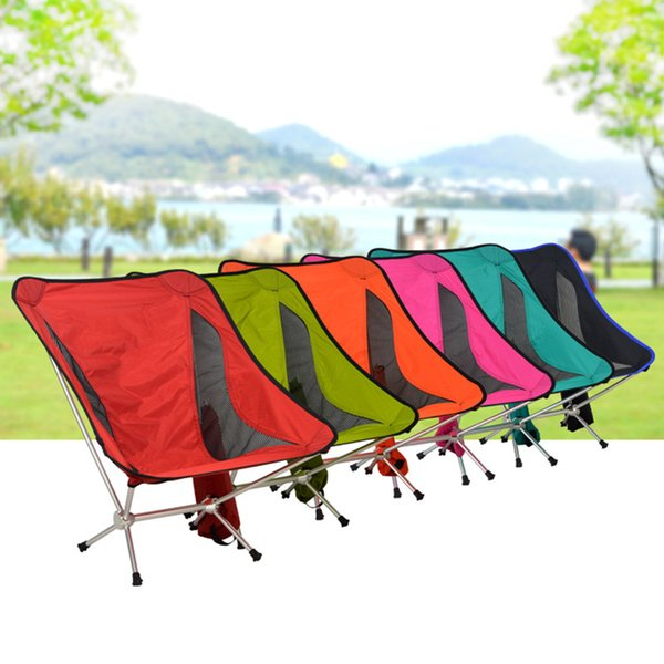 Wholesale-1pcs/lot Beach chairs Portable Folding aluminum camping canvas deck chair 4 color