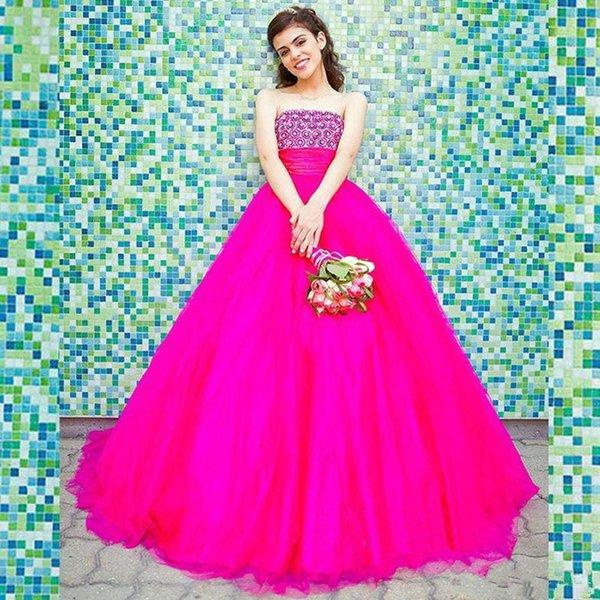 Hot Sale Quinceanera Dresses 2016 Strapless Shining Beaded Ball Gown ...