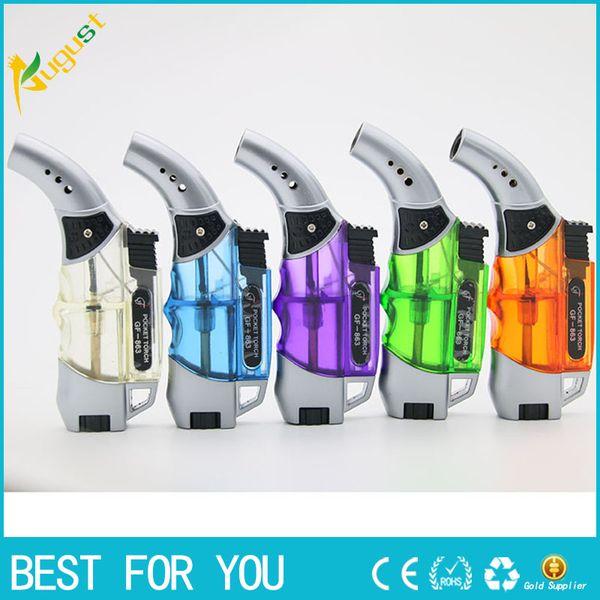 top popular gas lighters for cigarettes new spray gun lighter click n vape advanced vaporizer in various colors gas metal lighter 2021