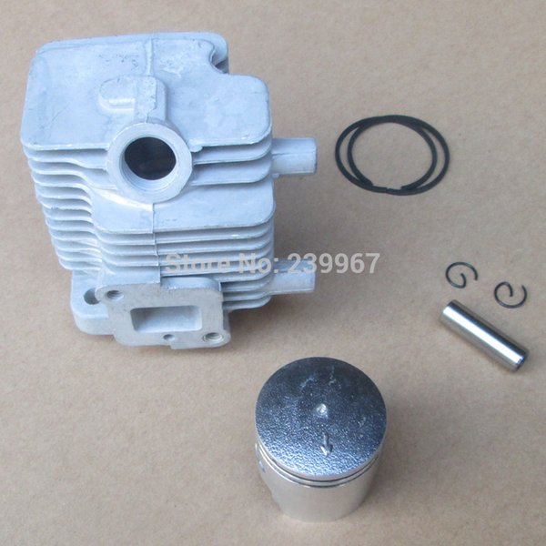 Cylinder assembly 32mm for Chinese 1E32F 32F hedge trimmer free shipping strimmer Cylinder + piston kit replacement part