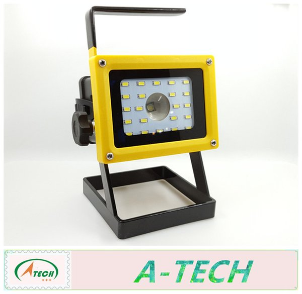 LED Floodlight 10W T6 +20beads Caution Light Cordless Outdoor LED Flood  Light Spot Portable LED