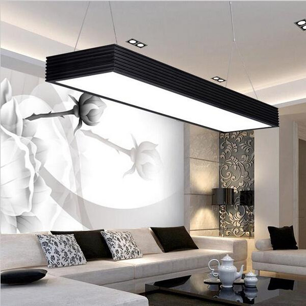Modern Led Pendant Lights Square Office Suspended Hanging Light Fixture For  Office Classroom Living Room Bedroom Hanging Ceiling Lamp Unique Pendant ...