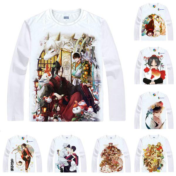 Anime Shirt Hozuki's Coolheadedness T-Shirts Multi-style Long Sleeve Hoozuki no Reitetsu Hozuki Hakutaku Cosplay Motivs Kawaii Shirts