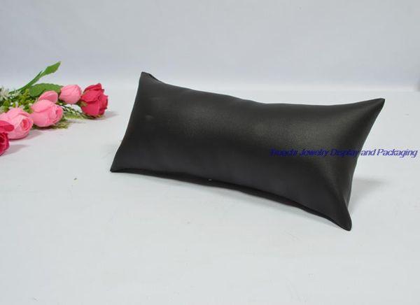 black PU leather pillow