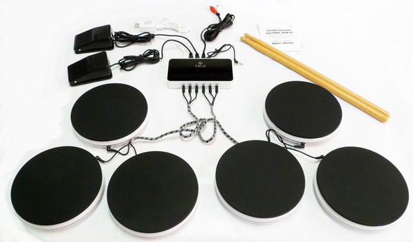 Электроника ударная установка портативный смарт-набор ударных музыкальных инструментов ударная установка портативный электронный барабан набор ударных игрушки подарки
