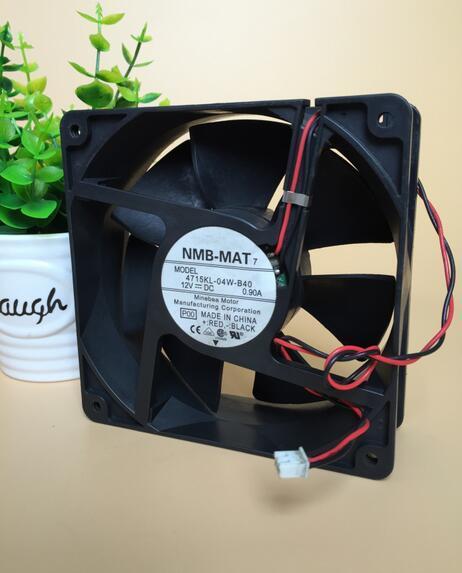 Wholesale: original genuine NMB-MAT 4715KL-04W-B40 12V 0.90A 12038 2 lines axial fan