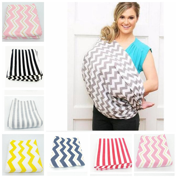 top popular Nursing Cover Nursing Blankets Baby Car Seat Cover Nursing Cover Stretchy Infinity Scarf Wrap Stripe Scarf Multifunction Baby Wrap KKA2374 2019