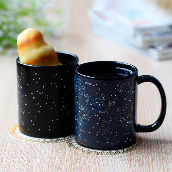 creative 12 constellations heat changing cup for starbucks coffee