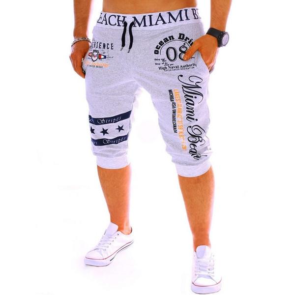 Venta al por mayor-2016 Diseño de impresión digital de los hombres calientes de la moda Pantalones cortos ocasionales Hip Hop Pantalones cortos deportivos Cintura elástica Pantalones cortos de algodón Joggers de verano