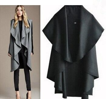Free Shipping/Hot Sale Women's Fashion Wool Coat, Ladies' Noble Elegant Cape/Shawl. ladies poncho wrap scarves coat