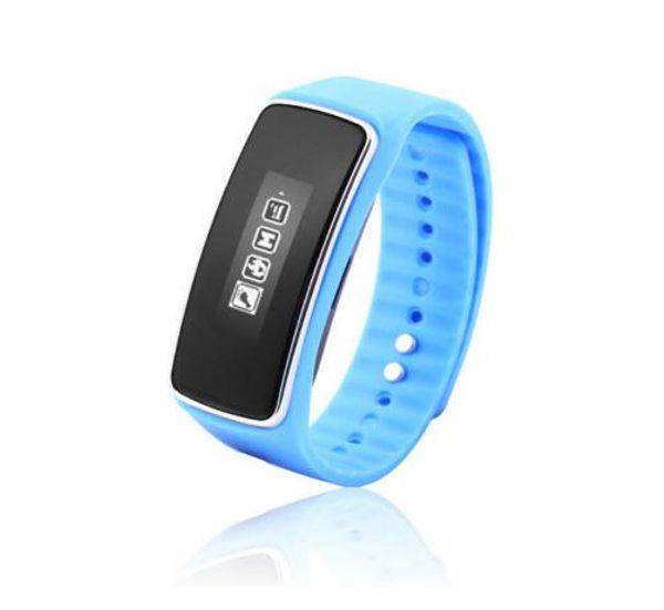 Pulsera Bluetooth Smart Band Pulsera S1 con pantalla OLED podómetro Paso Calorías contador Recordatorio de llamada Anti-perdido