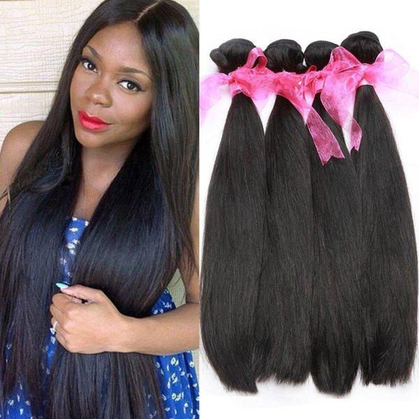 Brazilian Virgin Hair 4 Bundles Straight Hair Cheap Human Hair Weave