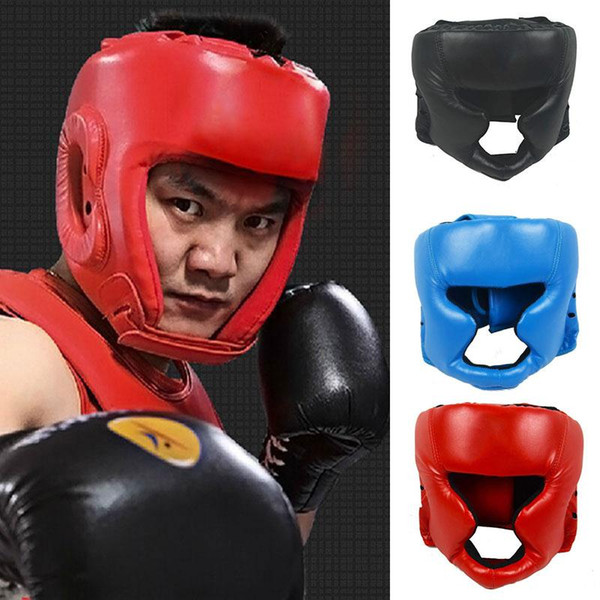 Boxing Helmet Closed Type Boxing Head Guard Sparring Mma Muay Thai Kick Brace Head Protector Training Headgear Gear
