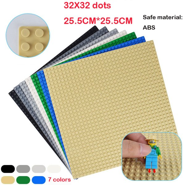 top popular Building Blocks board Base Plate small particle building blocks assembled puzzle baseplate 32x32 dots DIY Toys Baseplate 2019