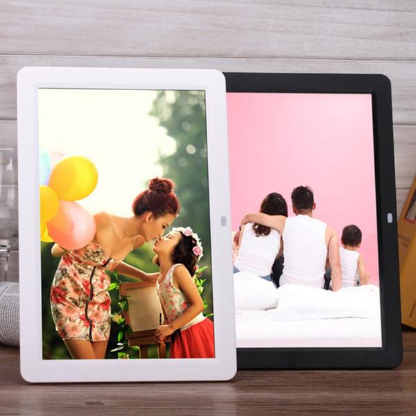 Nuevos marcos de fotos digitales Smart Home TFT LED Películas digitales Reloj despertador MP3 Marco de fotos con control remoto Touch Pen EU Plug 2016 caliente