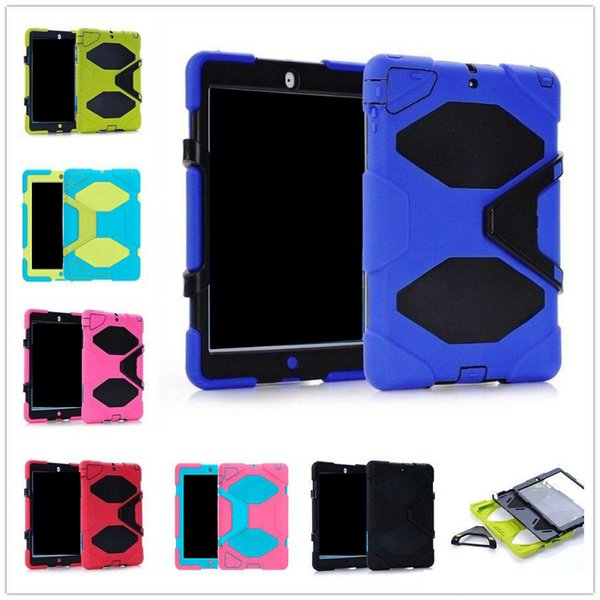 Military shockproof Heavy-Duty Case cover Stand Cover with Screen Protector for iPad 2 3 4 air air2 mini Tablet PC Free Shipping