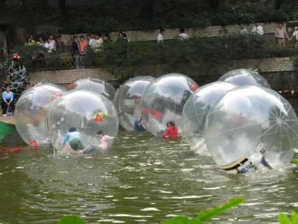 2m 0.8mm inflatable large Ball Zorb Balls Water Walking Balls Dancing Ball Sports Ball walk on water with zipper PVC water toy