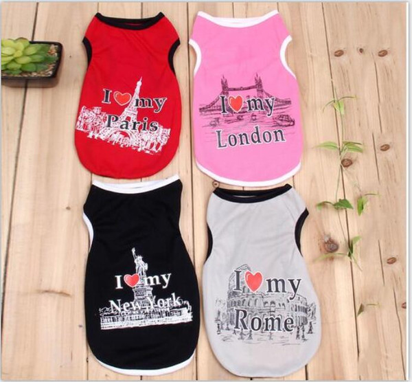 Summer Pet Dog Shirt Clothes Cute Lovely Sweetheart Vest Shirts T Shirt Clothing for Dogs Cats Pet Products