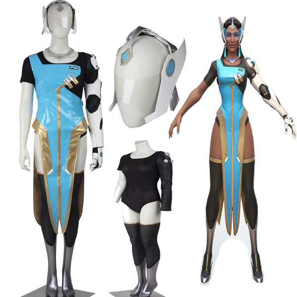 Free Shipping HOT Games COS Games Shows Symmetra Cosplay Costume Full Set Adult Customize For Halloween Party