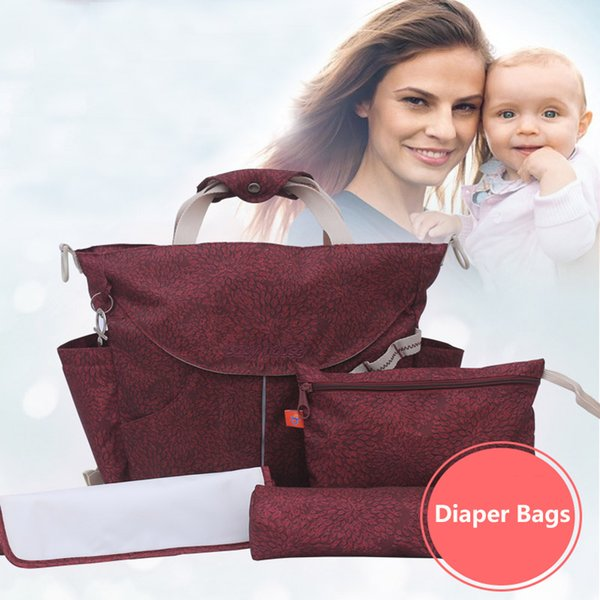 Mode-Multifunktions-Windel-Beutel-Art- und Weisentote-Rucksack-Mama-Taschen Große Kapazitäts-wasserdichte Baby-Säuglings-Reise-Taschen Weihnachtsgeschenke SZ-B13