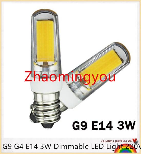 YON G9 G4 E14 3W Dimmable LED Light 220V LED Lamp 2609SMD COB Spotlight Bulb Lamp 360 Beam Angle Chandelier Lights Replace Halogen