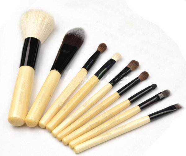 20sets/lot-Factory Direct Sale top quality make up 9pieces brush set+zipped pouch professional cosmetics brush kits tools ,Free DHL Shipping