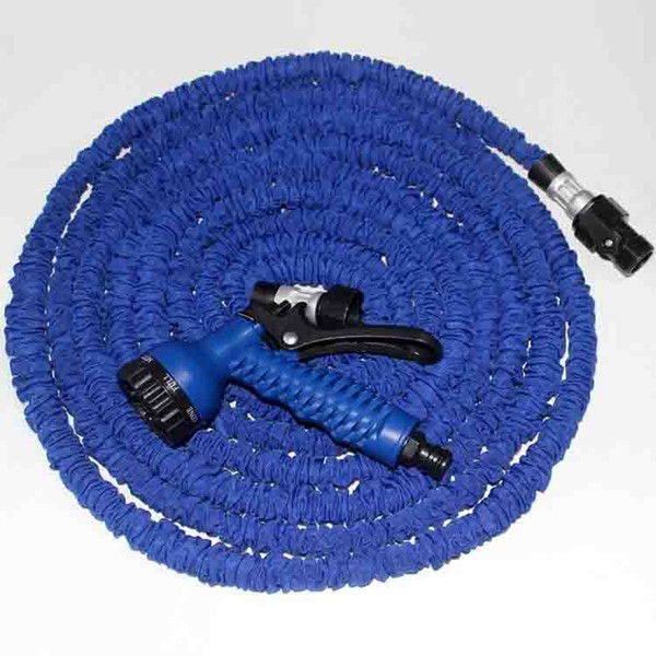 top popular 75ft 100ft Expandable Magic Flexible Garden Hose Aliumum Conector For Car Water Hose Pipe Plastic Hoses To Watering With Spray Gun 2021