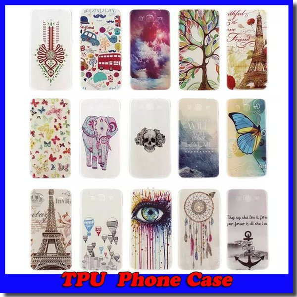 For Samsung IPhone 6 Love Tree Lover Dreamcatcher Glow In Dark Henna Mandala Soft TPU Case Eiffel Tower Skin Free shipping