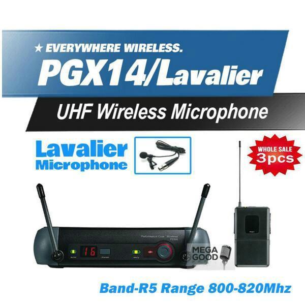 3Pcs Microfoon Free PGX PGX14 WL93 UHF Professional Karaoke Wireless Microphone System with Lapel Lavalier Collar Clip Mic 800-820Mhz