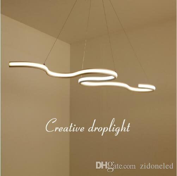 Modern Led Hanging Pendant Lights Double Glow Suspension luminaire Pendant Lamp Dining Kitchen Room High Brightness Length 1200mm