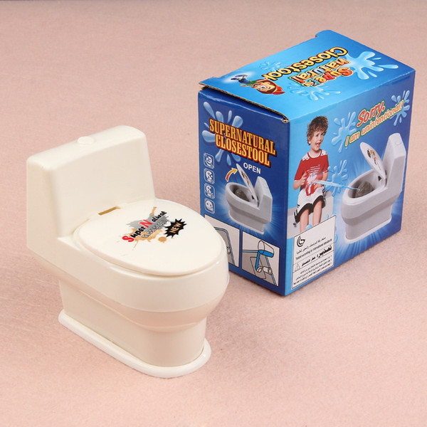 Tricky toys toys novelty color white toilet water toilet spoof barrel