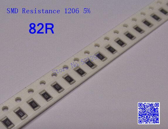 Wholesale- SMD Resistors 1206 82R 82 ohm 1/4W 5% Chip resistor 500PCS/LOT