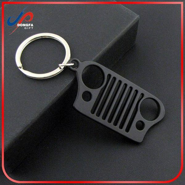 Au-Tomotive Gold Jeep Grill Logo LED Flashlight Silver Bottle Opener Key Chain INC