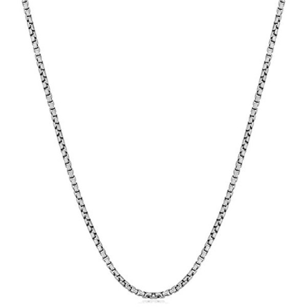 1MM 2MM 925 Sterling Silver Box Chain Necklace Women Italian Crafted Necklace Thin Strong Lobster Claw Clasp 16 18 20 22 24 inch