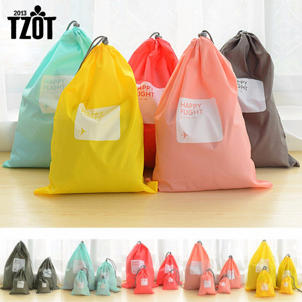 Wholesale- Hot 4pcs/lot Waterproof Storage Bags For Travel Shoe Laundry Lingerie Makeup Pouch For Cosmetic Underwear Organizer