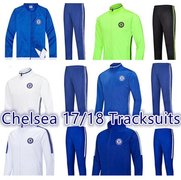innovative design 74341 c2496 2019 2017 Chelsea Jacket Tracksuits Kits Soccer Jersey 2017 MORATA PEDRO  FABREGAS HAZARD DIEGO WILLIAN KANTE Football Shirt Logo Hot Print From ...