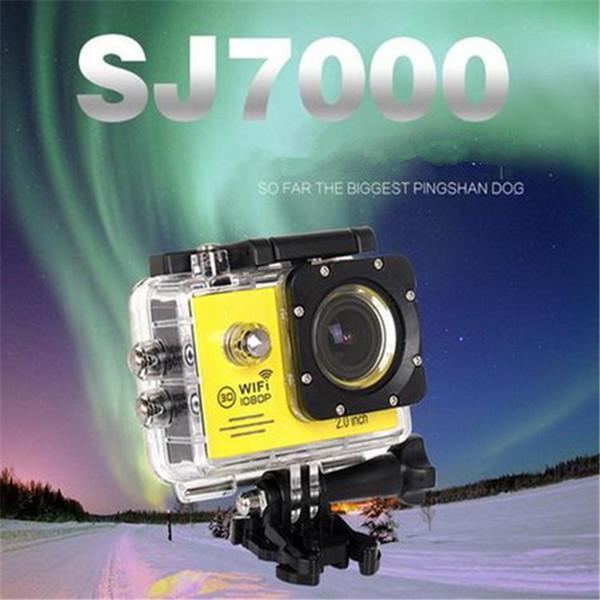 SJ7000 Action Camera Wifi 2.0 inch LTPS LED HD 1080P Sports Waterproof DV Extreme Mini Cam Recorder Marine Diving DHL OTH191