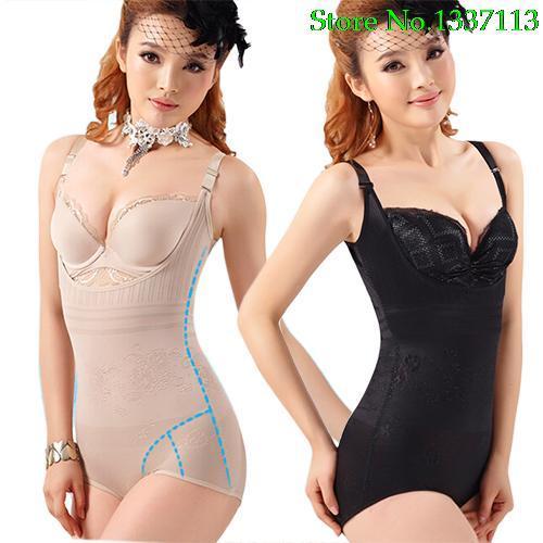 Wholesale- New 2016 Women Full Body Slimming Thin Seamless Tummy Waist Shapewear Bodyshaper 5PZN