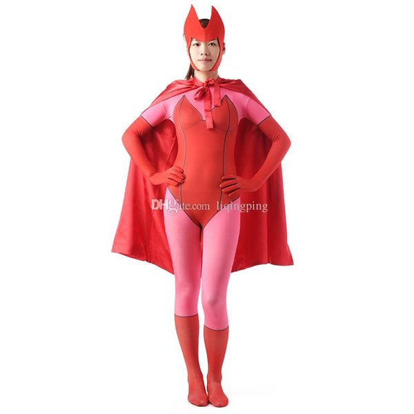 Brand New 2016 Pink Female Full Body Zentai Suit Lycra Spandex Cosplay Party Costume For Halloween