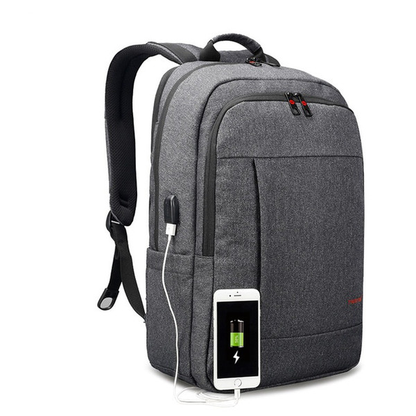 2017 Anti-theft USB charging Men 15.6inch Laptop Backpack Women Backpack Mochila School Backpack Bag Casual Laptop Bag 002