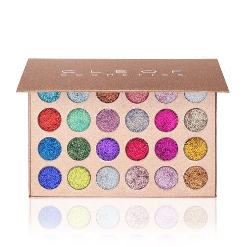 makeup cleof cosmetics 24 color glitter eyeshadow palette beauty shimmer eye shadow dhl fast ing