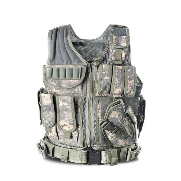 2017 Nuovo Outdoor Tactical Vest Camouflage Body Armor Abbigliamento sportivo Caccia Gilet Army Swat Molle Canotte