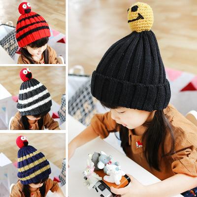 Marca de moda Outono Inverno Malha Recém-nascidos de Crochê Chapéu Do Bebê Meninas Meninos de Lã Cap Crianças Beanie Infantil Camisola de Malha