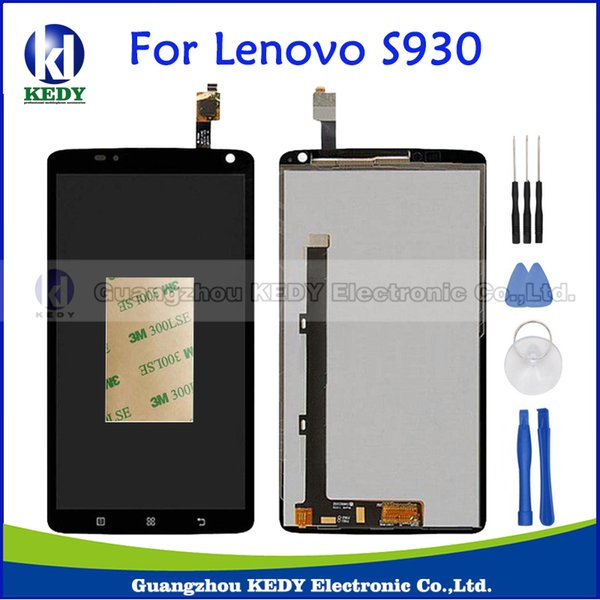All'ingrosso- Per Lenovo S930 Display LCD originale Touch Screen Digitizer Assembly Repalcement Parts + Tools